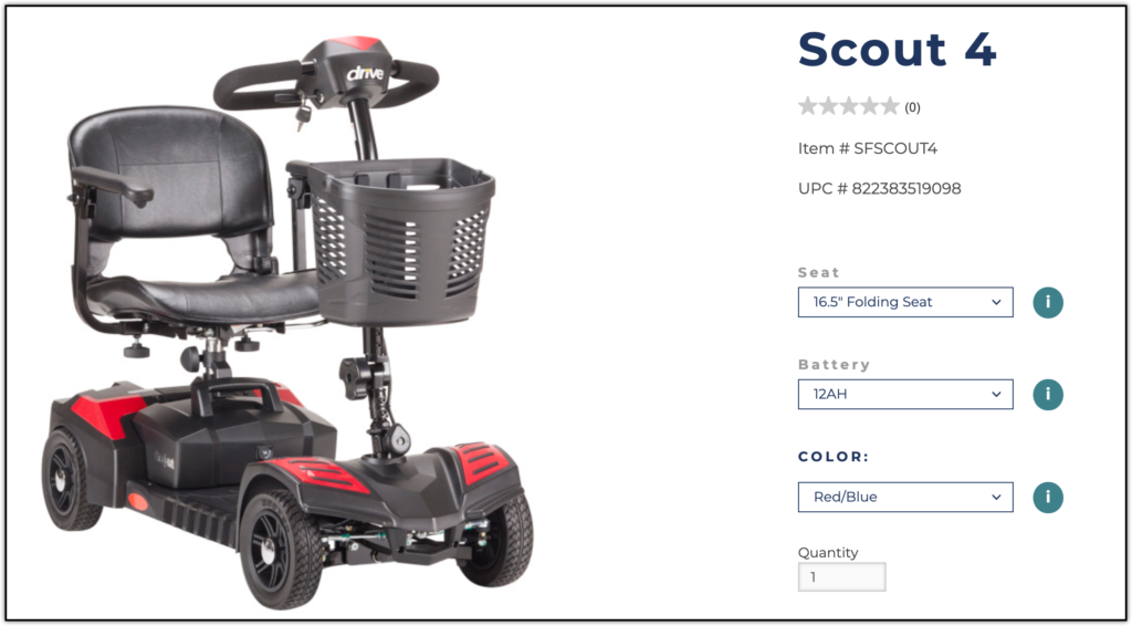 Drive Medical Scout Travel Power Scooter