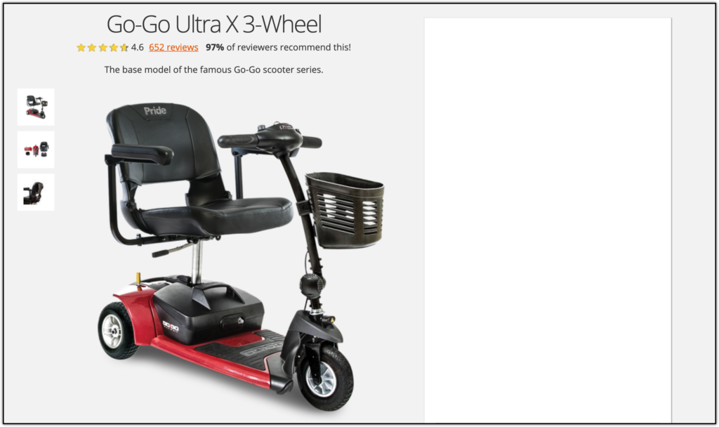 Go-Go Ultra X mobility scooter
