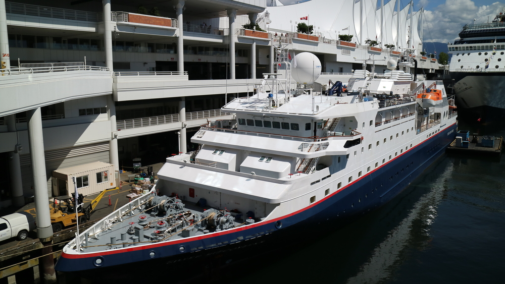 Silver Discoverer is preparing for the next departure from Vancouver to Alaska