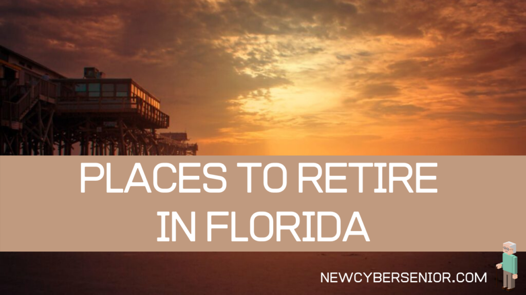 5 Best Cities to Retire in Florida - Golden Sunset over a the ocean with a pier on the left side of the photo