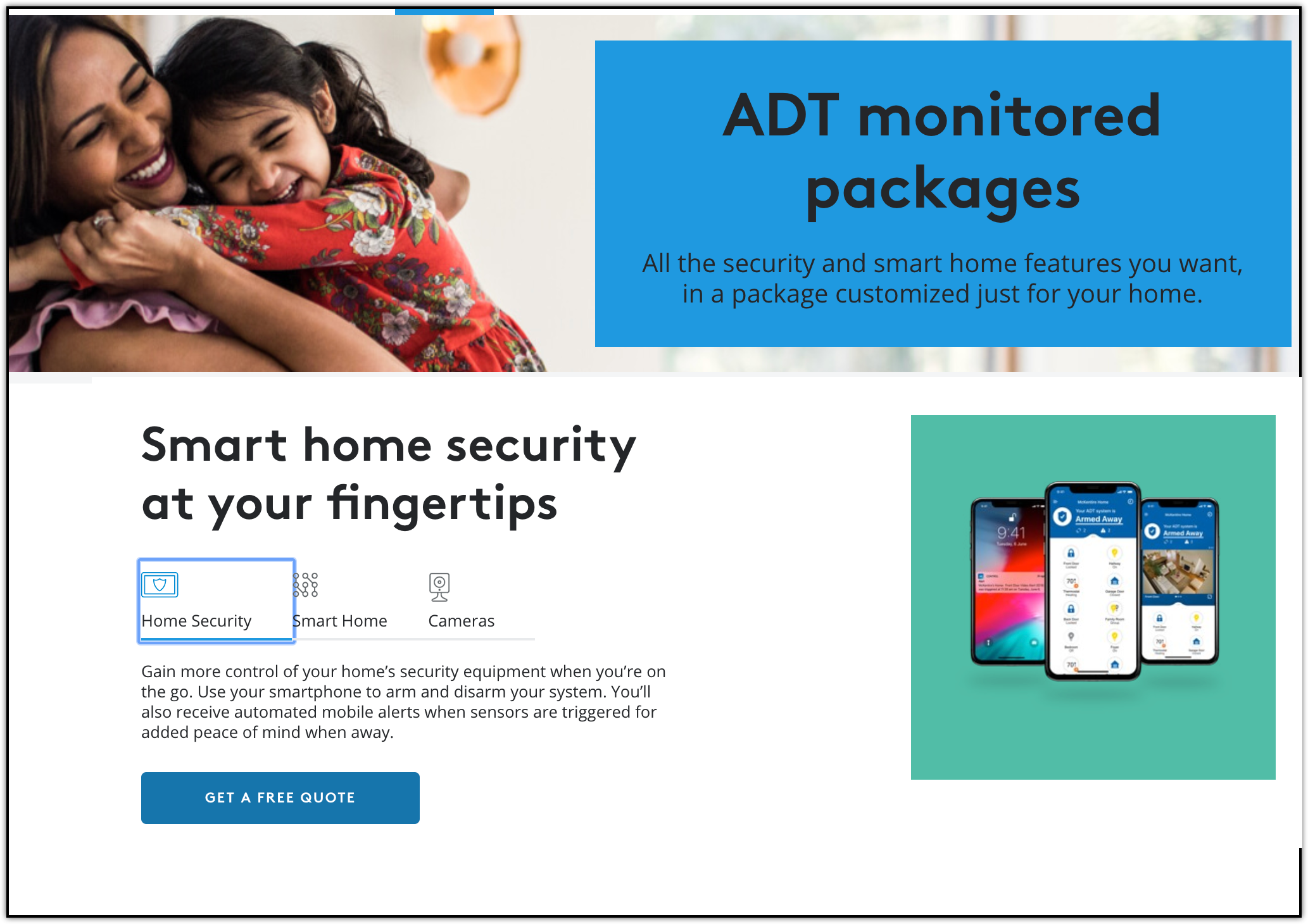 adt home security options