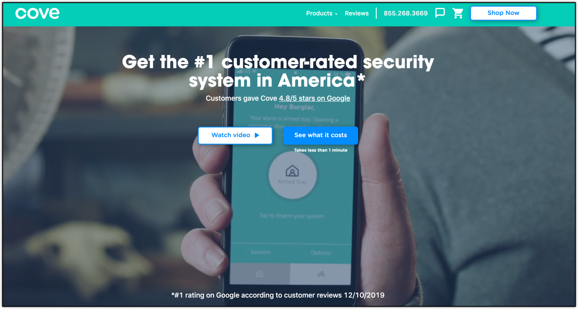 cove home security home page