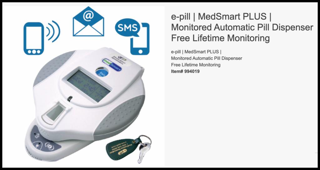 e-Pill Medsmart Plus Automatic Pill Dispenser website screnshot