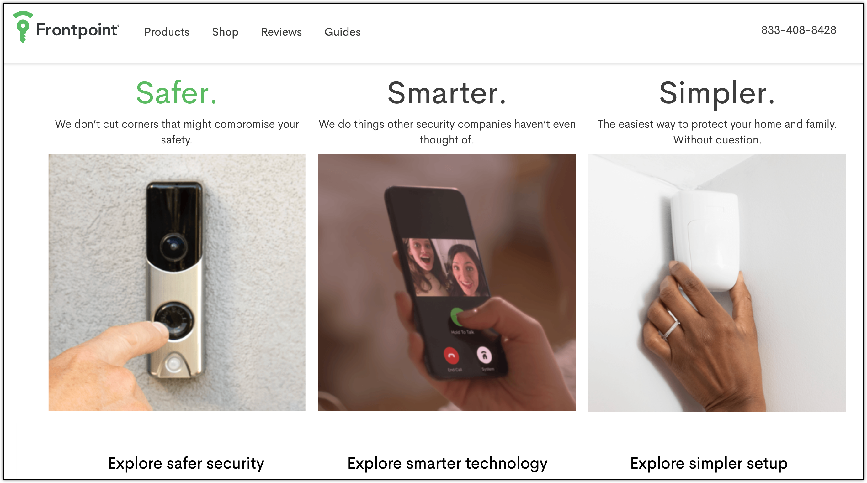 frontpoint home security products