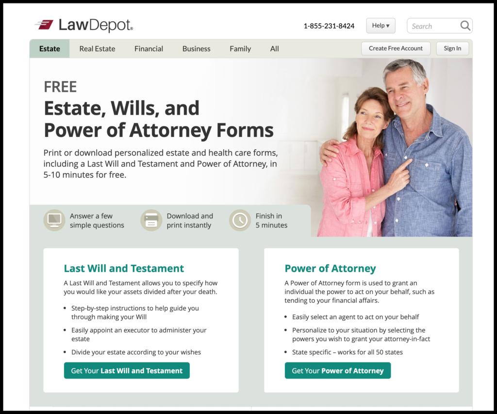 lawdepot estate planning