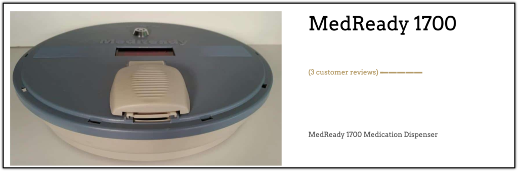 MedReady 1700 Automated Pill Dispenser website screenshot