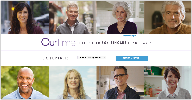 ourtime senior dating website