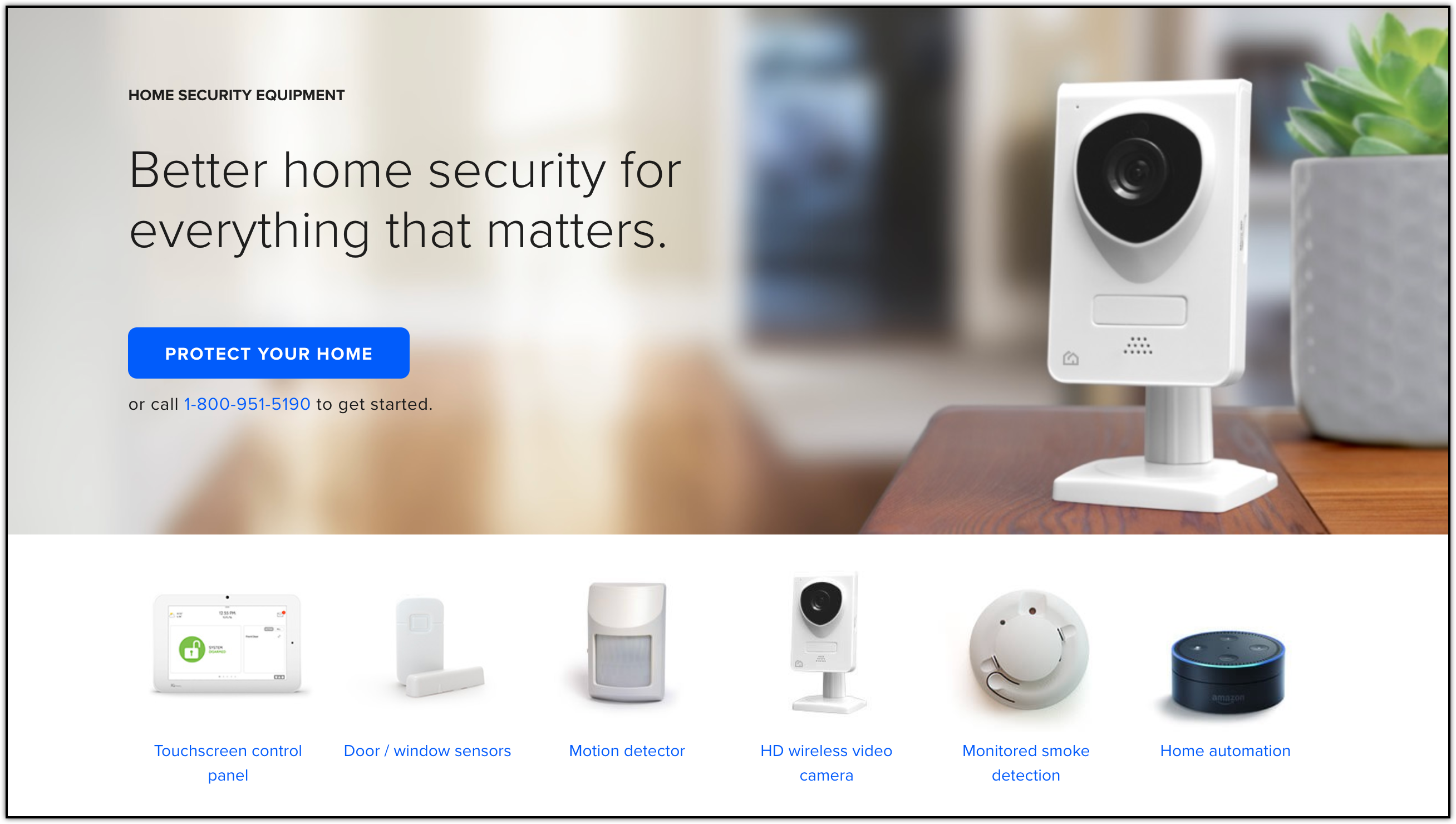 protect america smart home and monitoring devices
