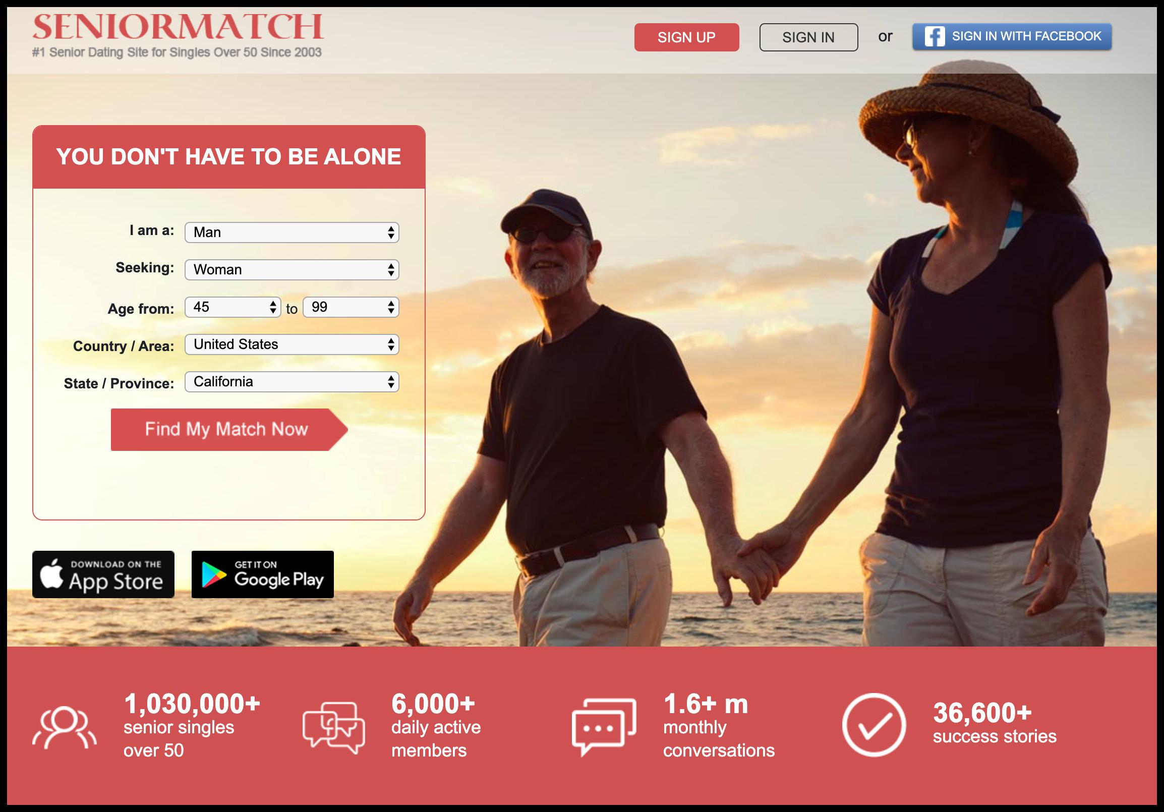 seniormatch senior dating website