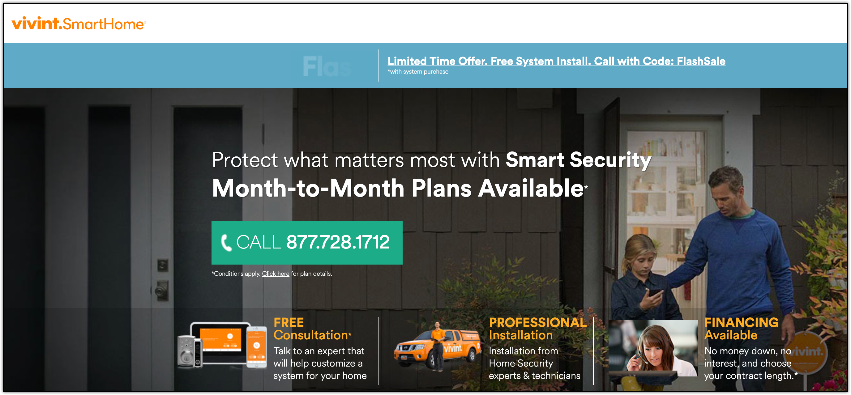 vivint smart home homepage