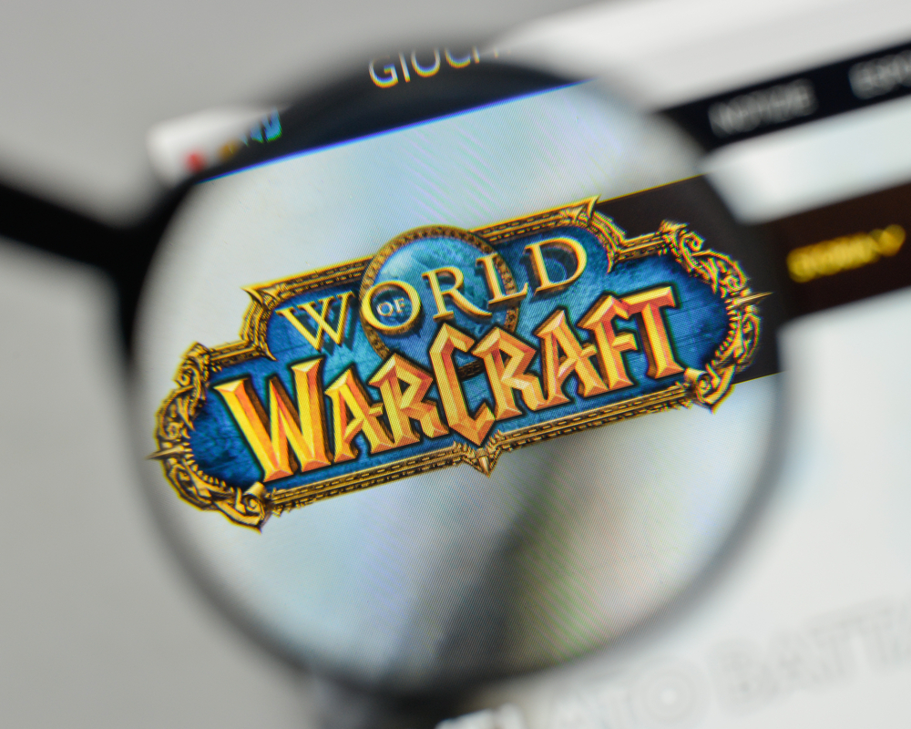 world of warcraft logo on internet browser