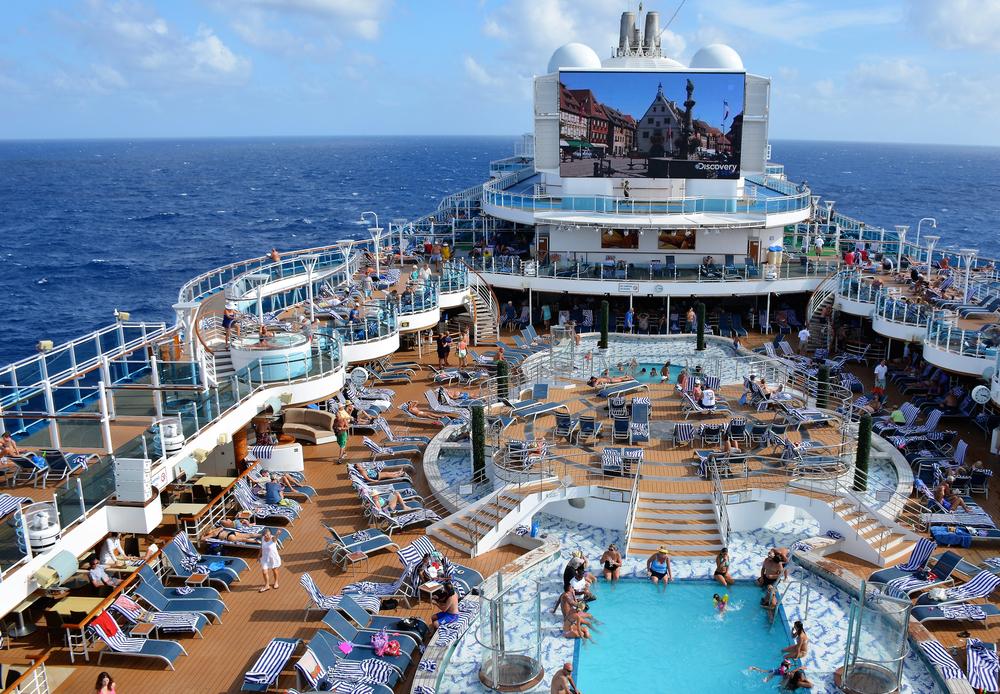 CARIBBEAN SEA Princess cruise on deck pool