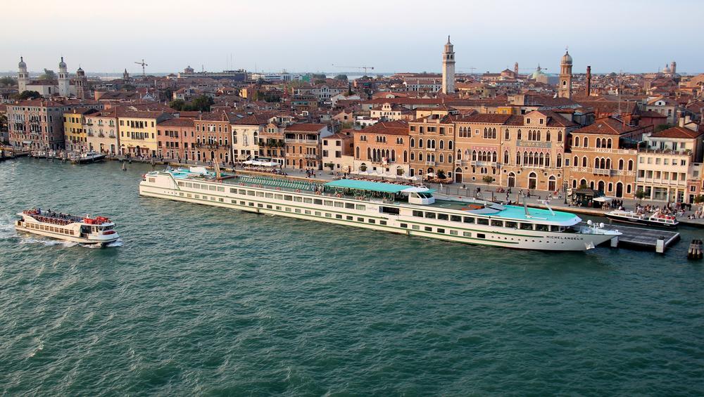 CroisiEurope Cruise Ship in an Italian harbor