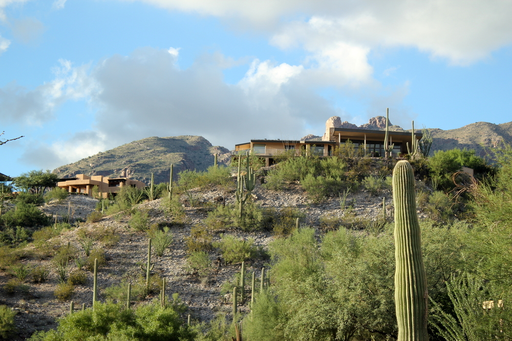 Houses on a hill in the Catalina Foothills