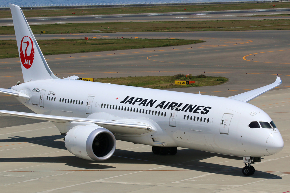 Japan Airlines plane on the tarmac