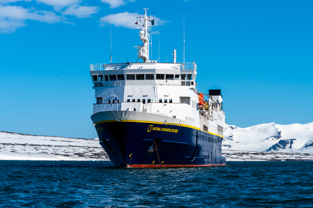 Lindblad and National Geographic Cruise Ship in the artic