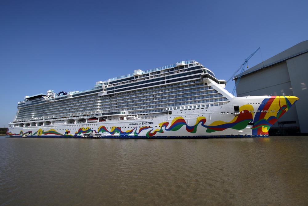 Norwegian cruise ship in dock