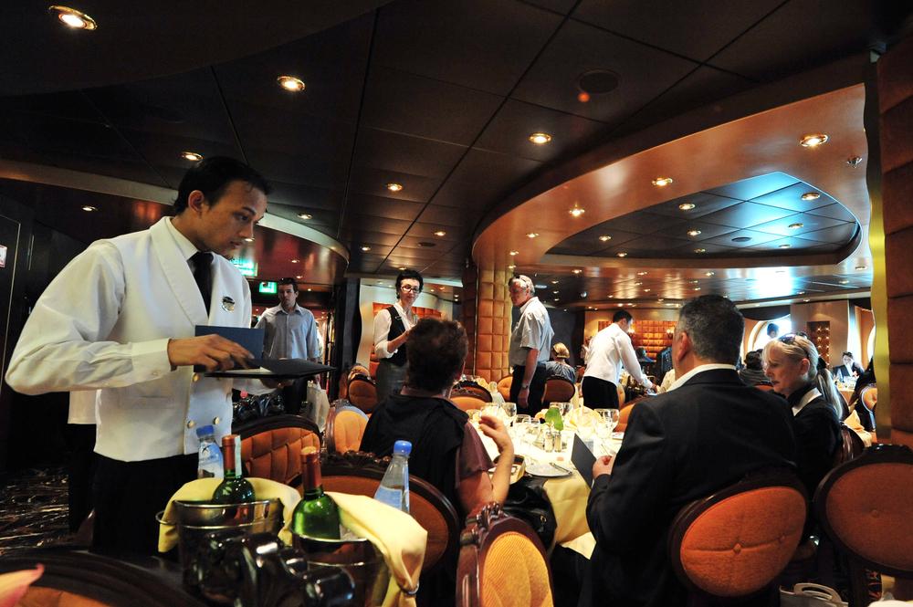 Passengers eating on board MSC - SPLENDIDA
