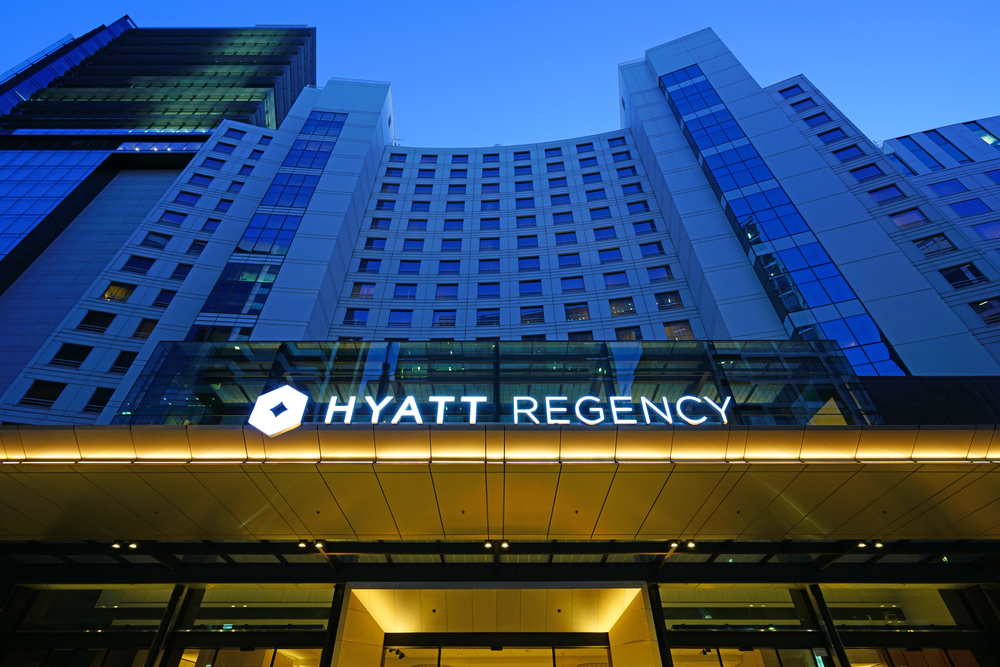 hyatt regency hotel in Australia front of hotel