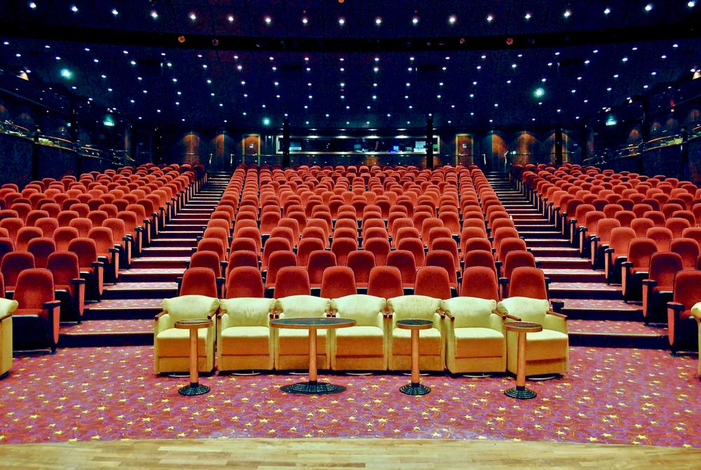 movie theater on norwegian luxury cruise line