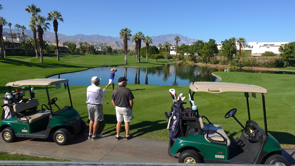 seniors golfing at the JW Marriott Desert Springs Resort