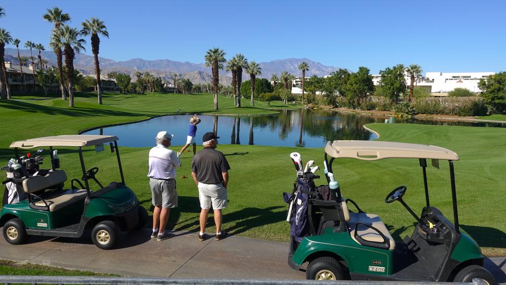 seniors golfing at the JW Marriott Desert Springs Resort