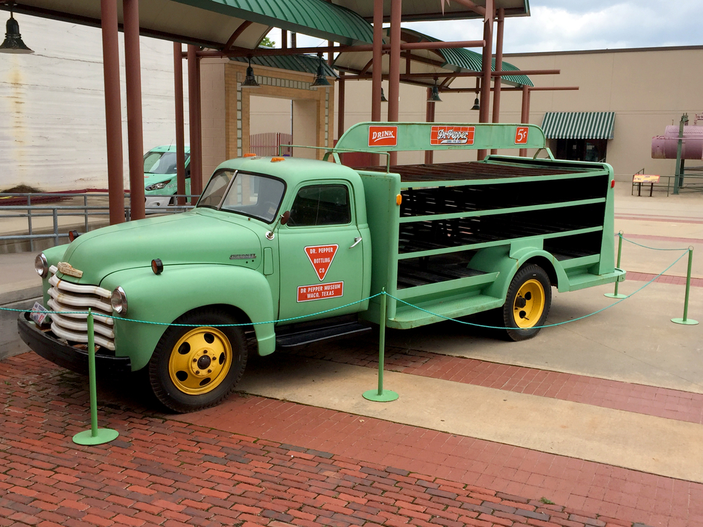 vintage dr. pepper truck from the dr. pepper museum in waco texas