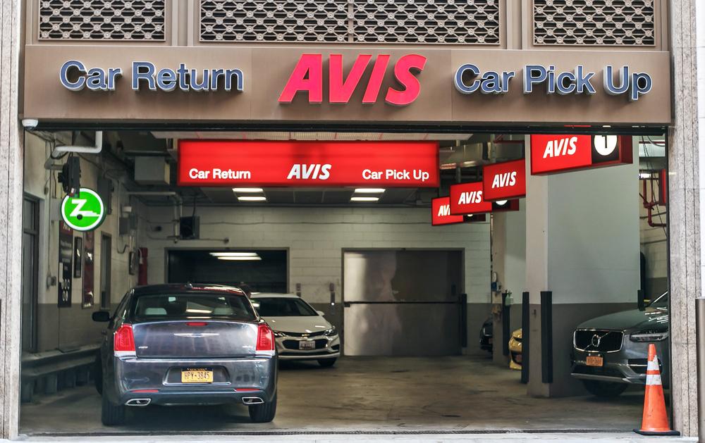 Avis car return and pickup