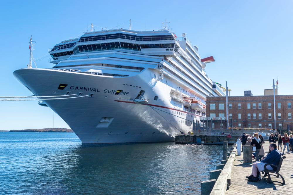 Carnival Cruise ship in Nova Scotia Canada