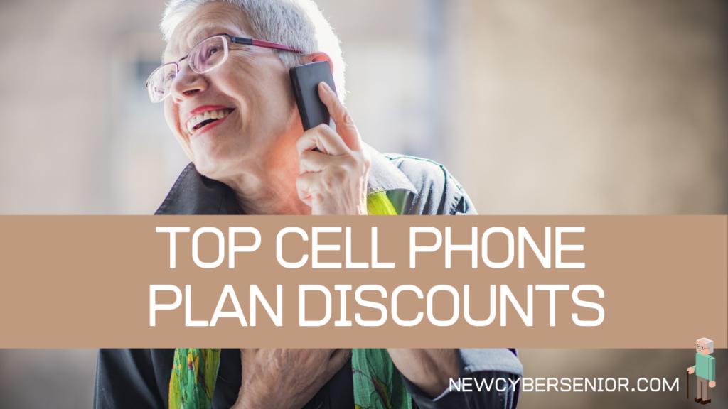 A senior woman having fun talking on the cellphone