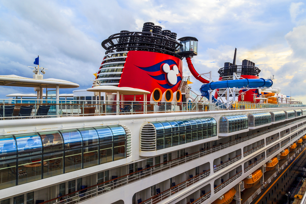 A deck image of a Disney cruise ship