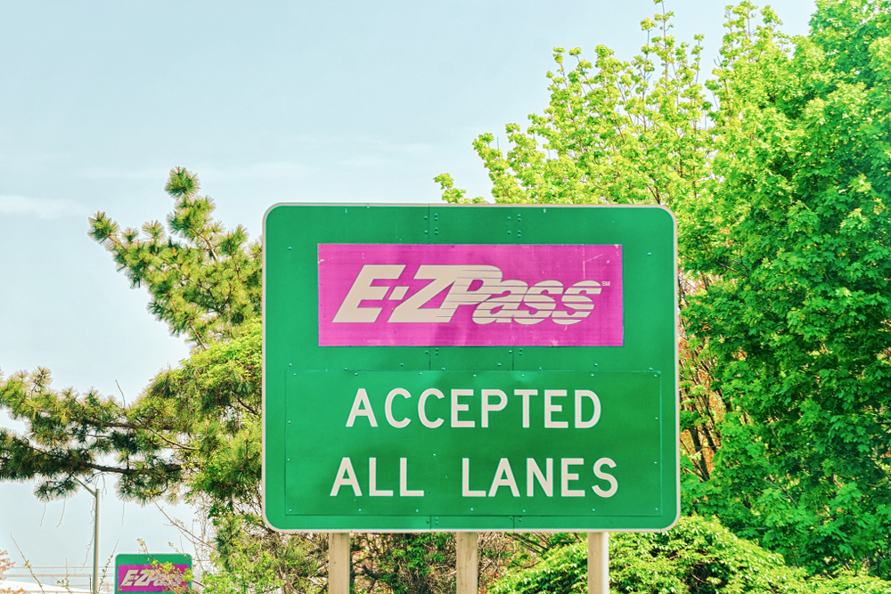 E-Z Pass sign on a highway