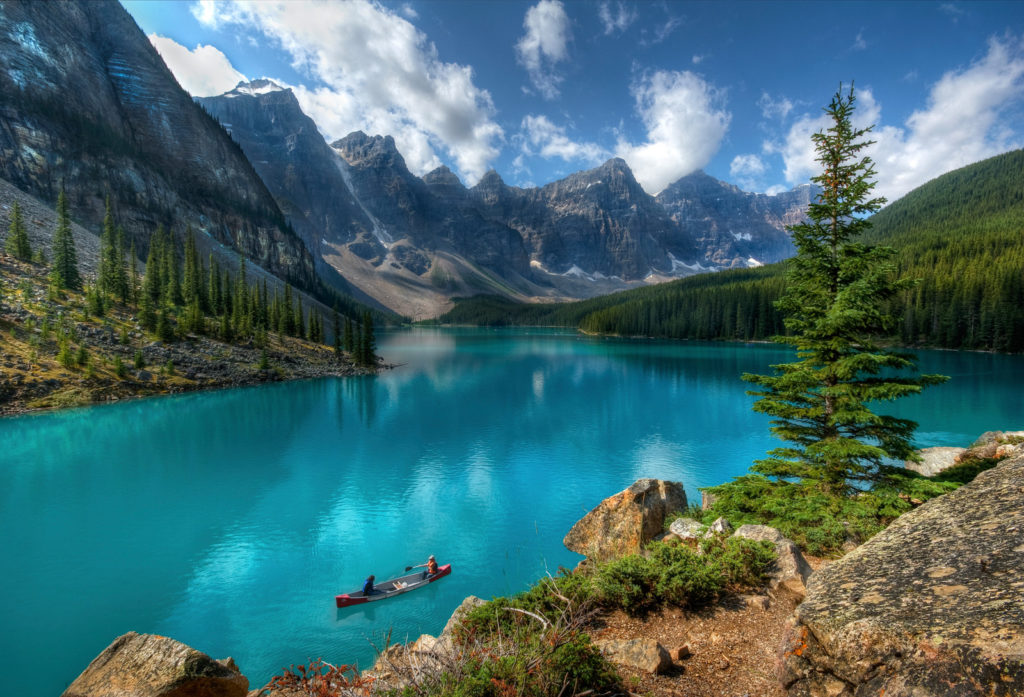 Beautiful Canada mountains and ocean.