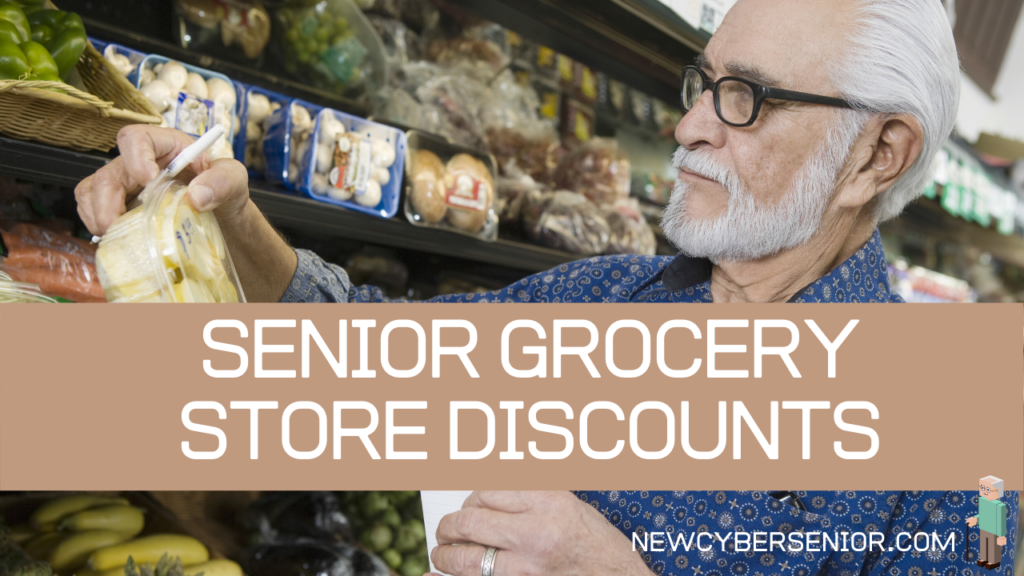 An older man in glasses shopping at a grocery store