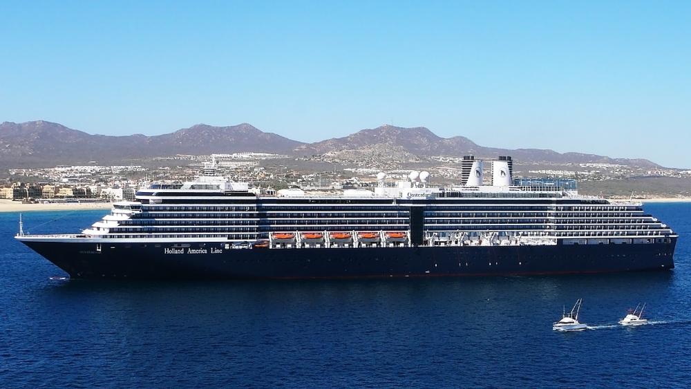 A Holland America cruise ship in Mexico