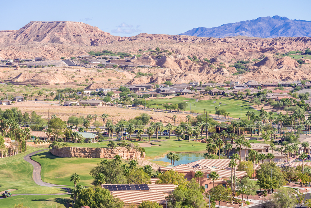 A scenic image of Mesquite in the mountains