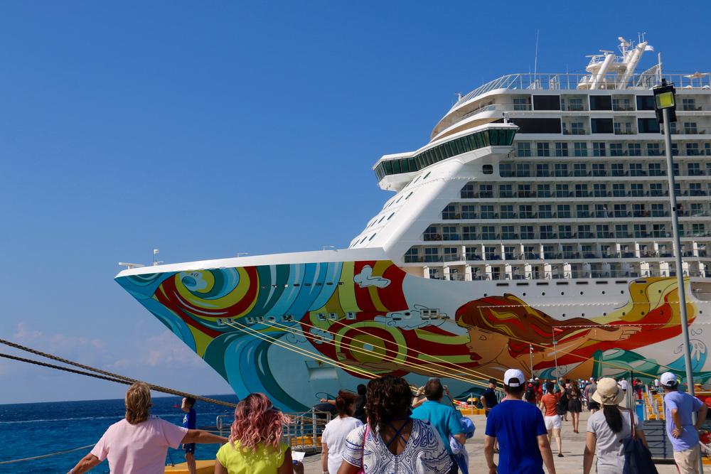 A Norwegian Cruise Line ship in Mexico