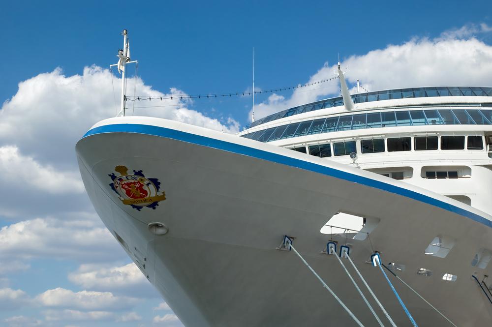 A close image of an Oceania cruise ship
