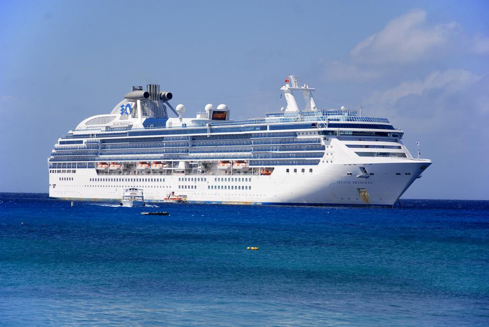 A Princess Cruises ship in the ocean