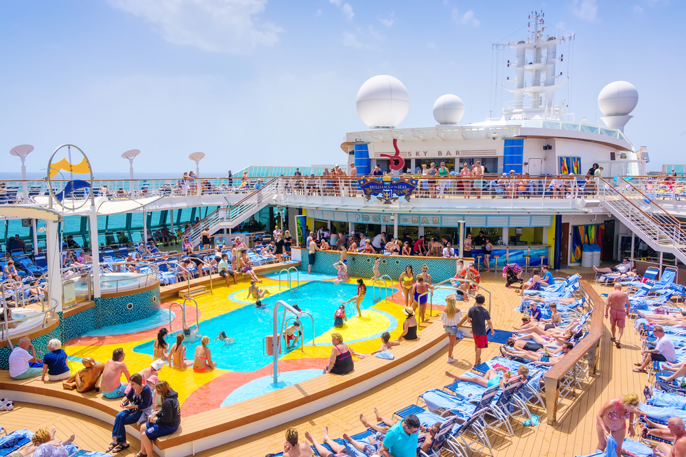 The deck of the Royal Caribbean ship Brilliance of the Seas