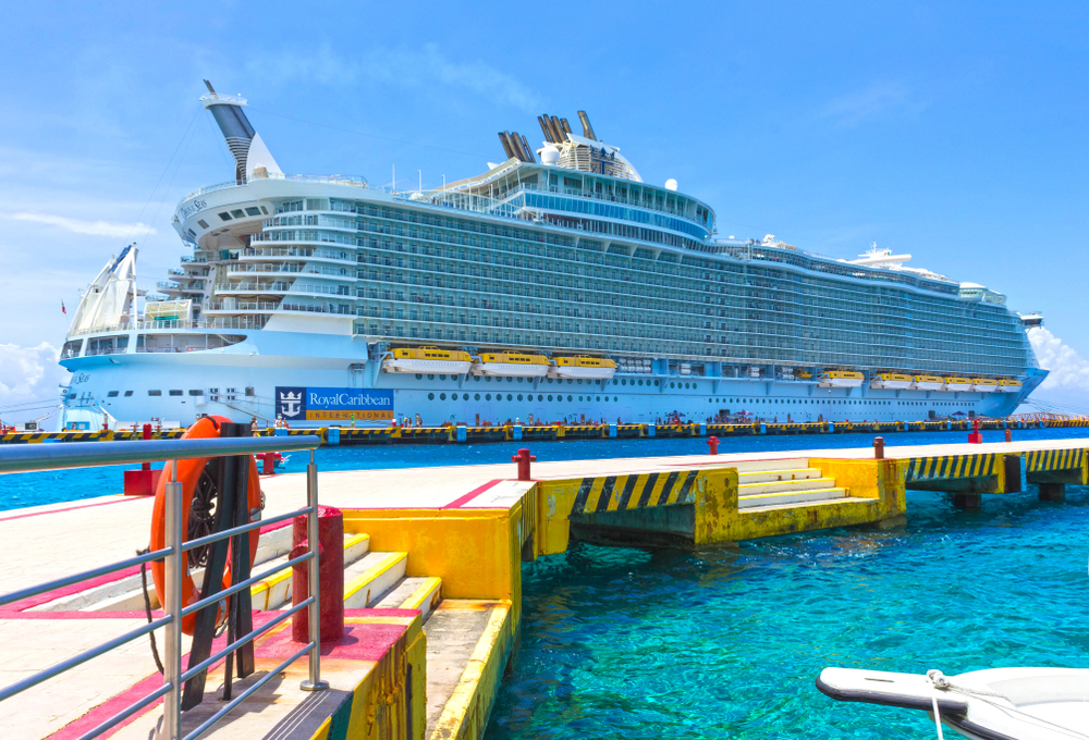A Royal Caribbean cruise ship in Mexico