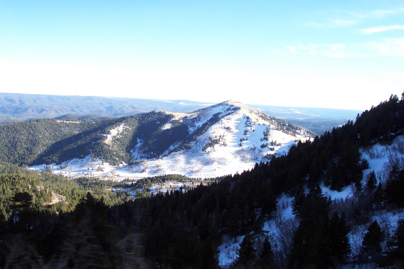 Sierra Blanca Mountains surrounding Ruidoso