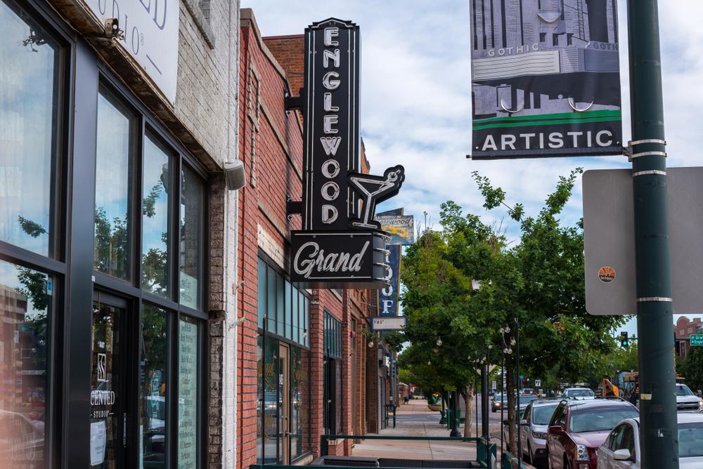 The main street of Englewood Colorado