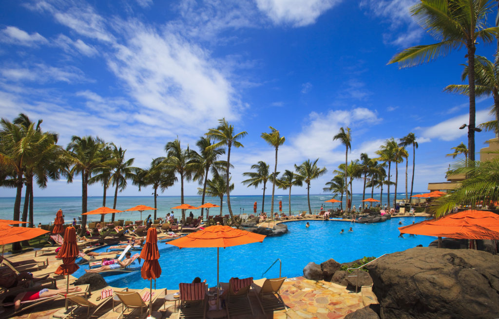 A pool on Waikiki beach