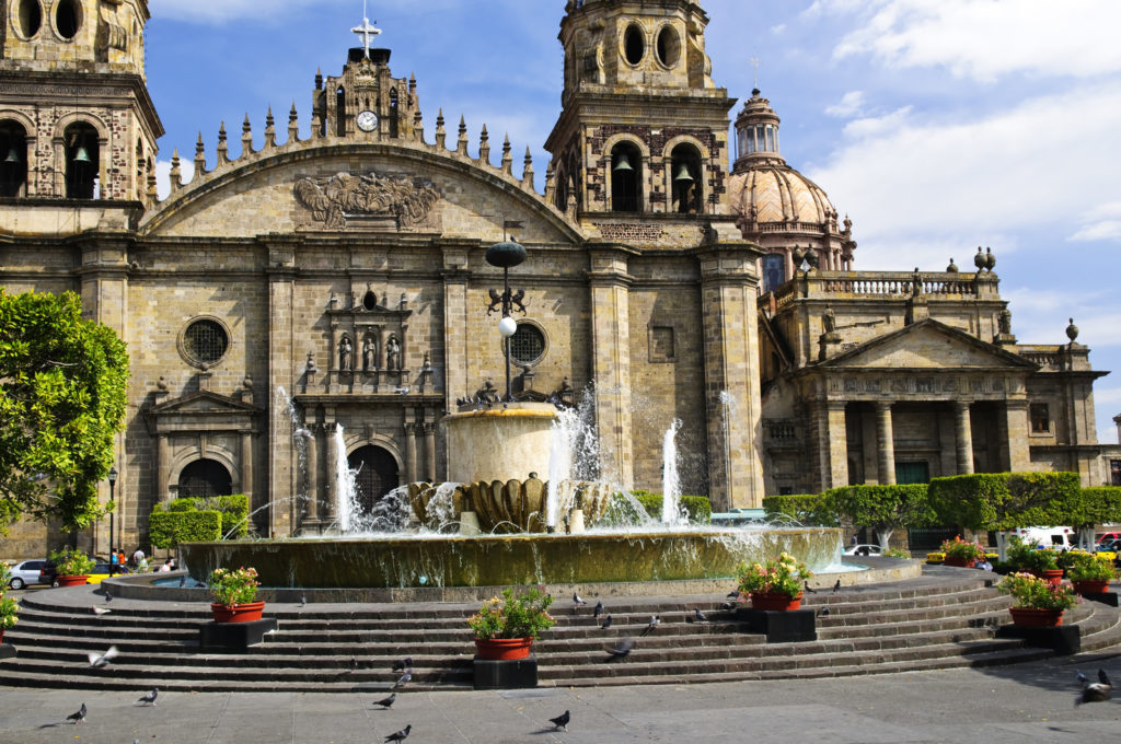 A cathedral in Guadalajara.