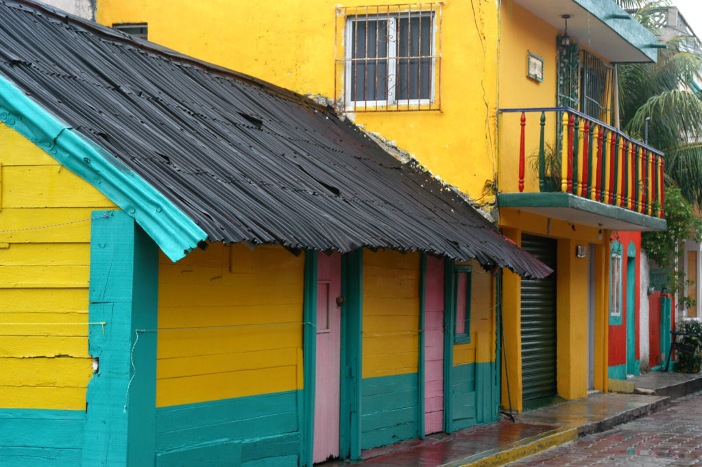 A colorful home in Mexico.
