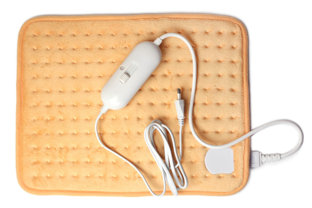An electric heating pad.