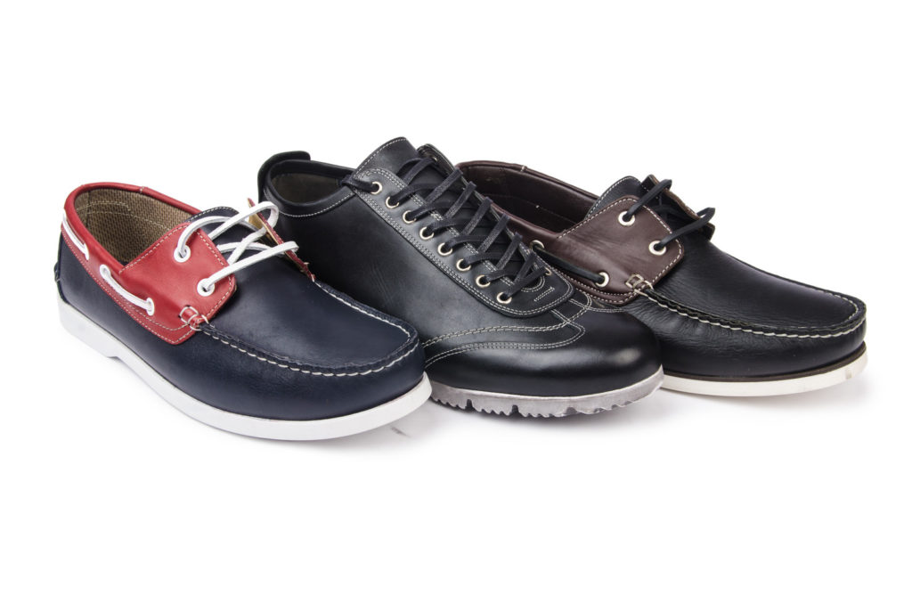 Several pairs of men's shoes