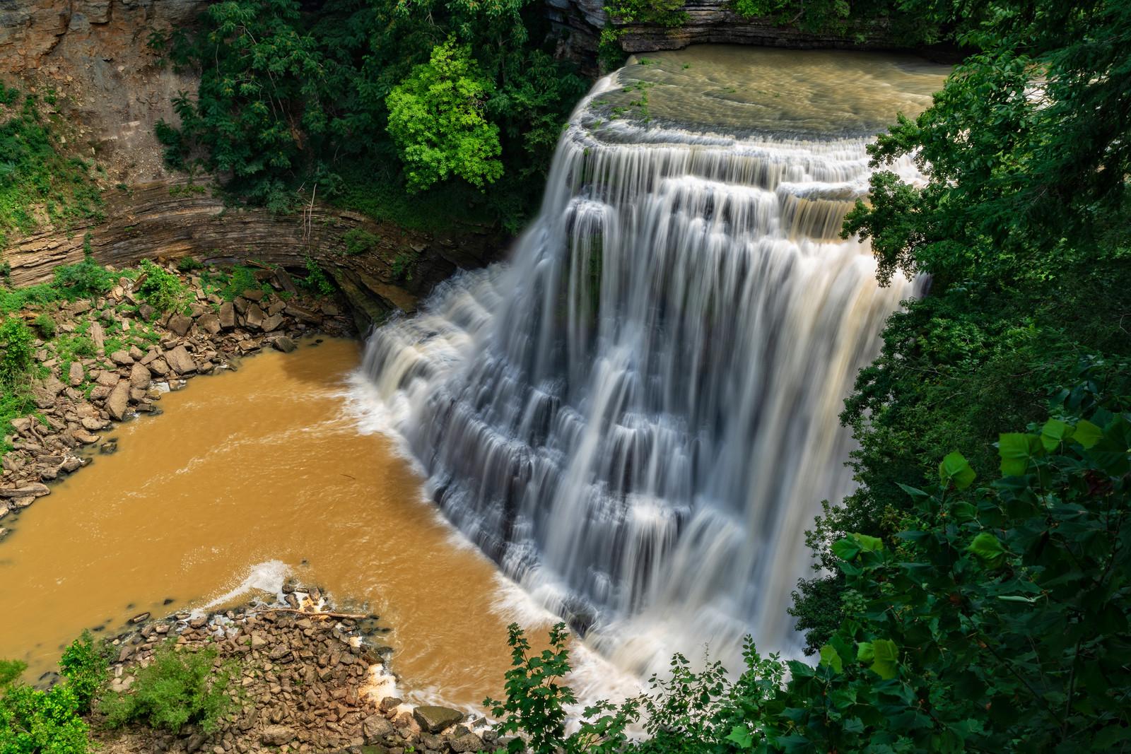 Big Falls at Burgess Falls state park in Sparta