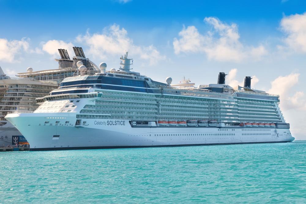Celebrity cruise ship in the Mediterranean